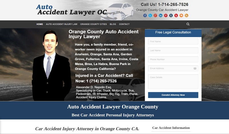 car accident attorney - Auto Accident Attorney Orange County