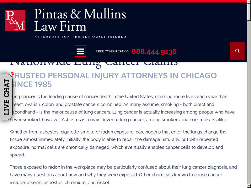 Lung Cancer Attorneys