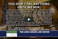 lung cancer law center commercial