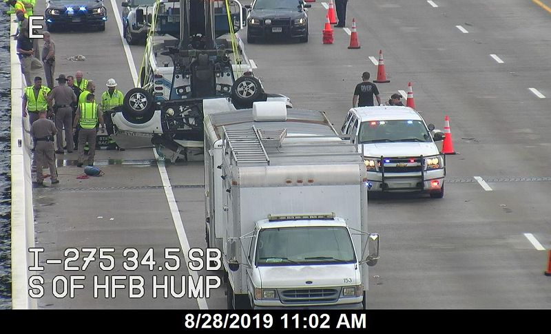 accident on 275 tampa today