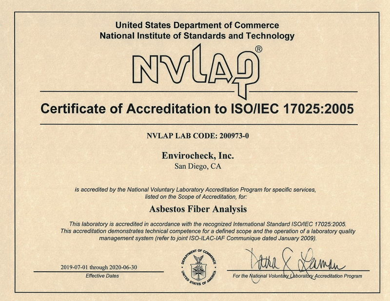 Accredited Labs For Asbestos Testing