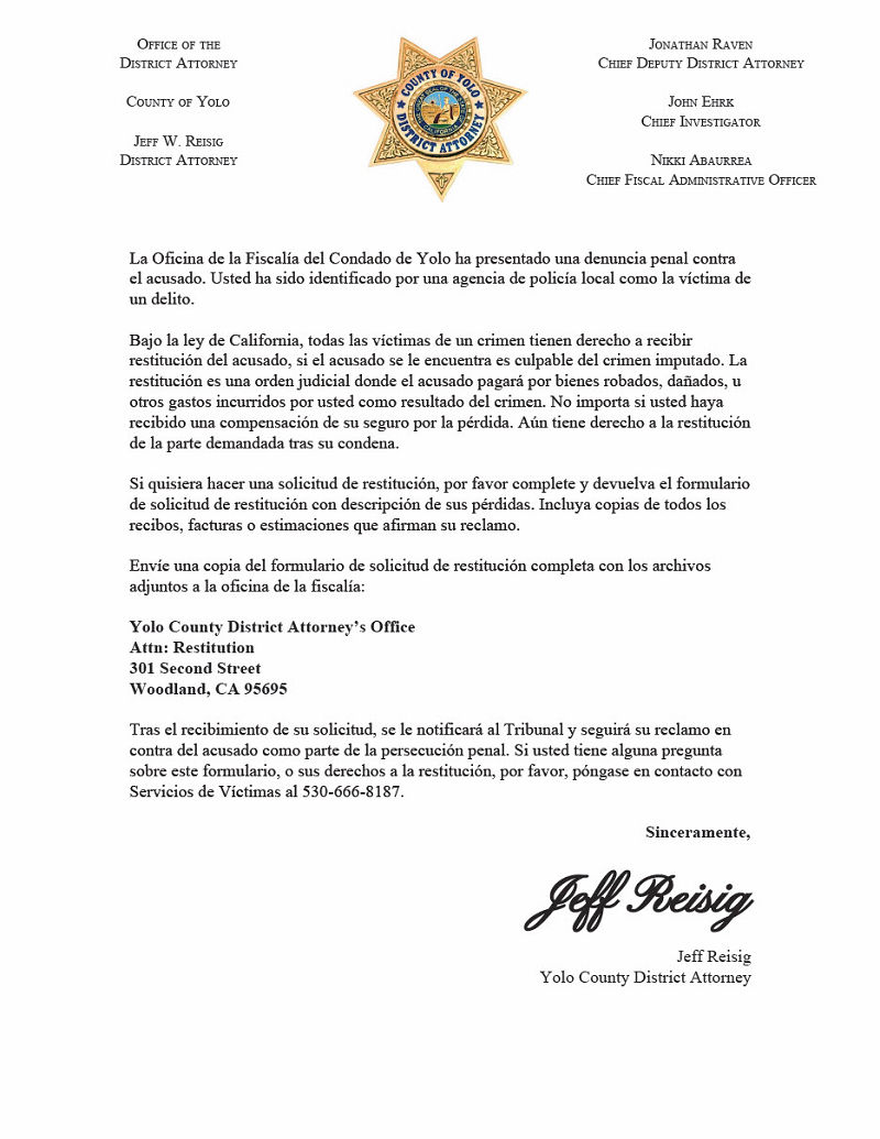 Image District Attorney in Spanish