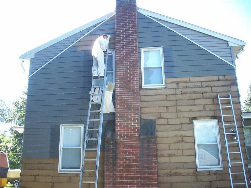Painting Asbestos Siding Before and After