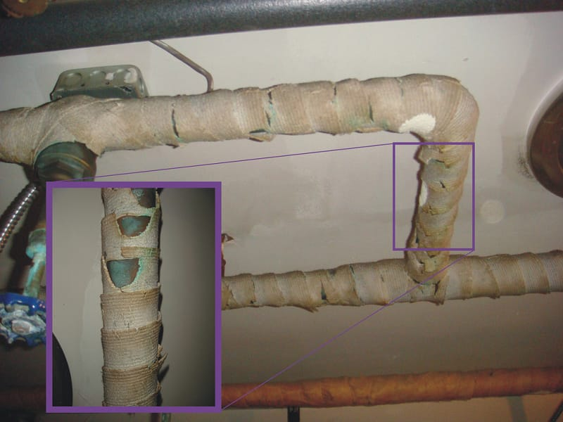 How to Seal Asbestos Pipe Insulation