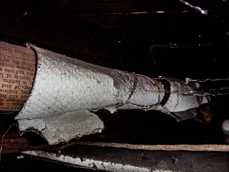 Old Asbestos Pipe Insulation