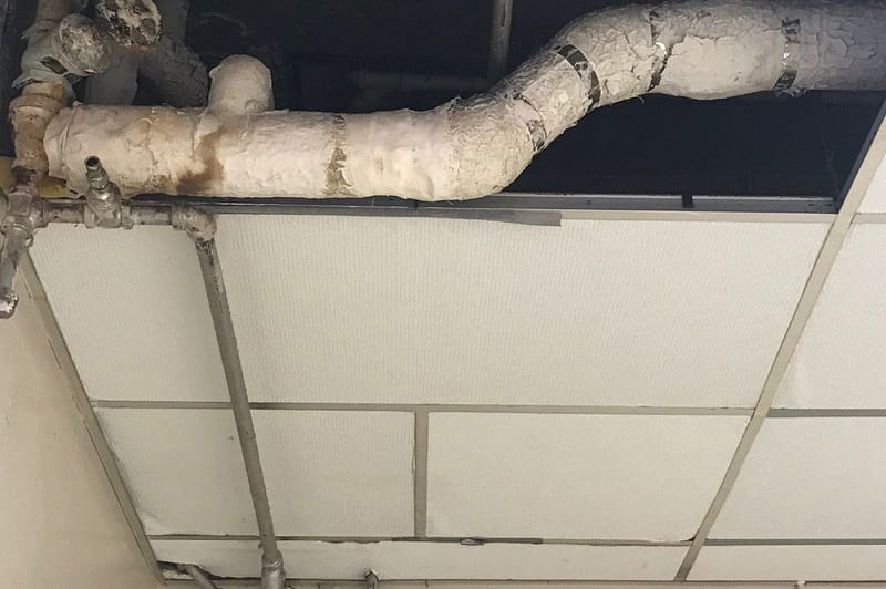 Paint Over Asbestos Pipe Insulation