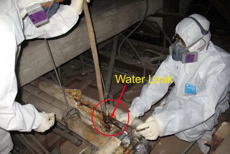 Removal of Asbestos Pipe Insulation