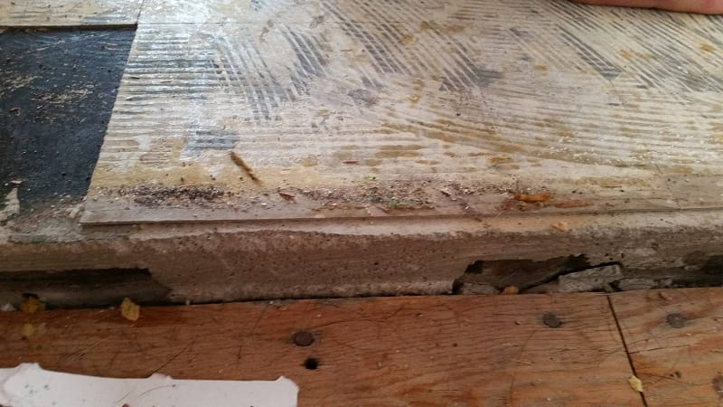 Asbestos Tile Cover Up