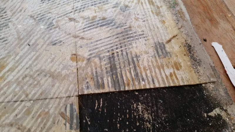 Asbestos Tile When Used